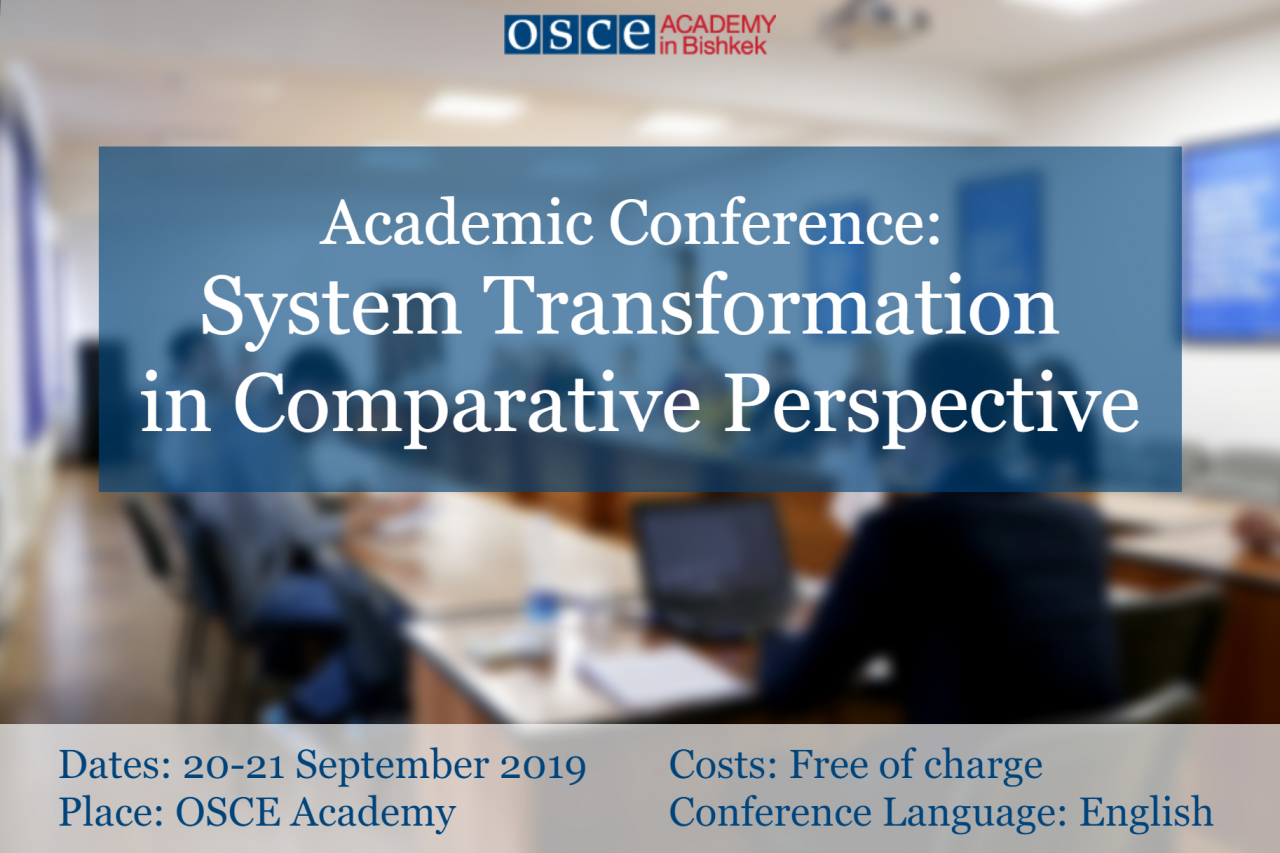 Academic Conference: System Transformation in Comparative Perspective