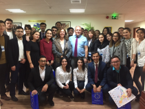 October 25, 2018. MA Students met the Head of the EU Delegation Ambassador Eduard Auer