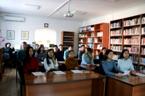 Students of the IUCA visits the Academy
