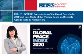 Associate Research Fellow Presents the Global Peace Index 2020 and Case Study of Women, Peace, and Security Agenda